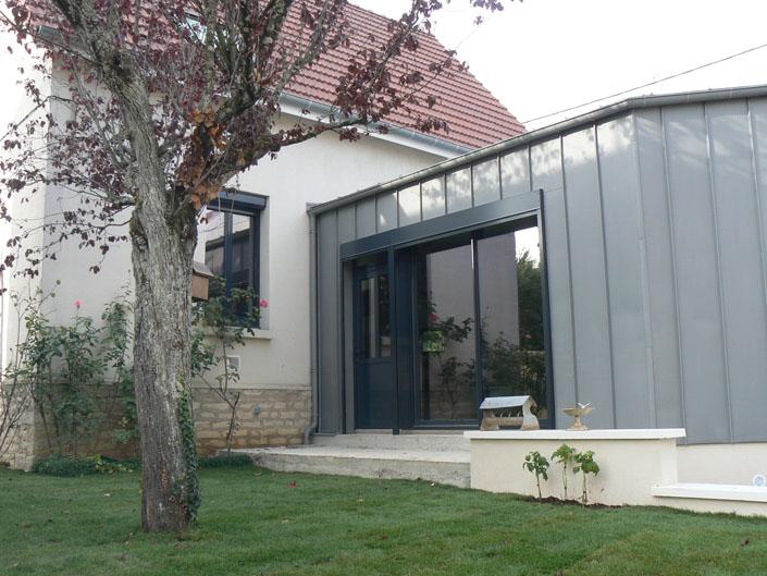 Extension zinc for Extension maison zinc